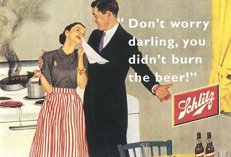 alte Bier Werbung