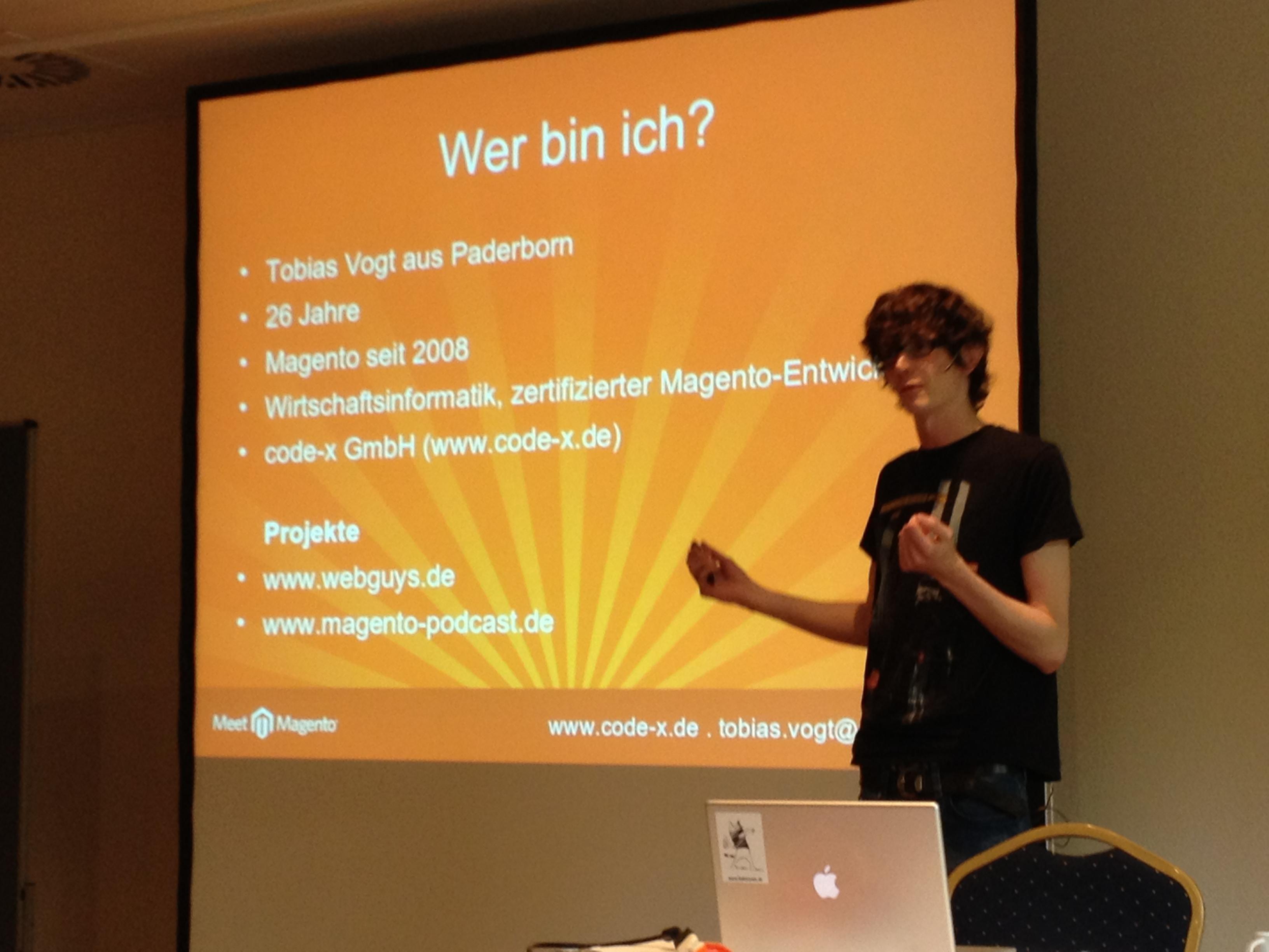 Tobias Vogt auf der Meet Magento 6