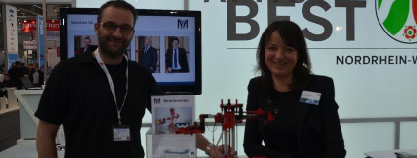 OWL trifft sich - Thorsten Ising und Anja Padberg (marcant) auf der CeBIT 2014