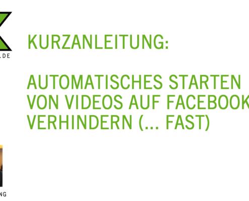 Automatisches Abspielen von Videos bei Facebook verhindern