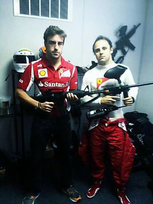 Fernando Alonso Gewehr Formel 1 Start Saison 2013