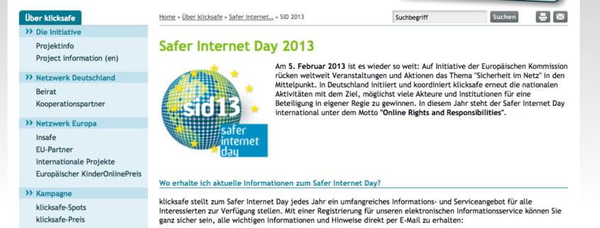 Safer Internet Day - www.klicksafe.de