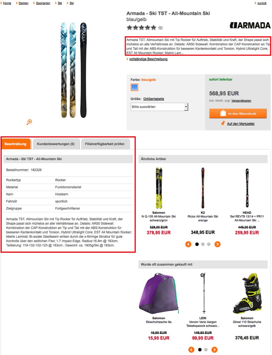 sportscheck.com - Produktseite